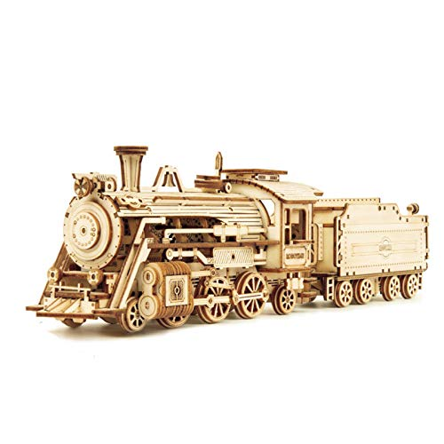 3D Holz Puzzle Zug Modell DIY Holzzug Spielzeug Mechanische Zug Modell Kit,3D Wooden Puzzle Train Model DIY Wooden Train Toy Mechanical Train Model Kit