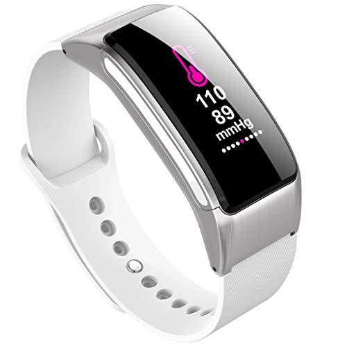 A-Artist Fitness Trackers Armband Smartwatch Damen Herren Schrittzähler Fitnessuhr Wasserdicht IP67 Vibrationsalarm Whatsapp Facebook Twitter Anruf SMS Beachten mit iOS Android-Schwarz