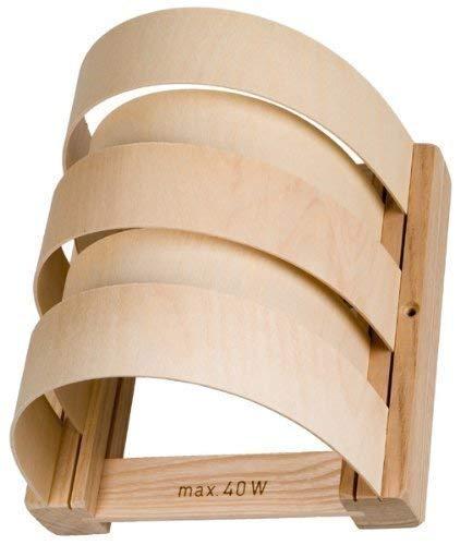 Gravidus Sauna-Lampenschirm aus Holz, halbrund