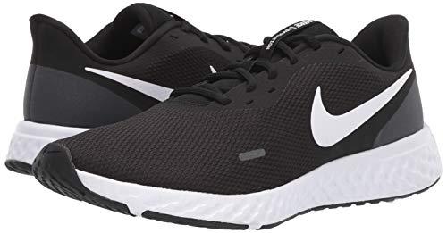 Nike Men's Revolution 5 Wide Running Shoe, Black/White-Anthracite, 8.5 4E US 8