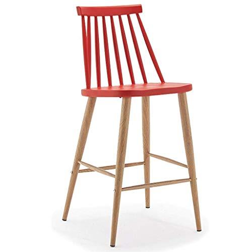 Eettafel met rode stoel met pedalen, ABS-zittingen en houten poten, kruk voor thuis, keuken, café, 200 kg Rood