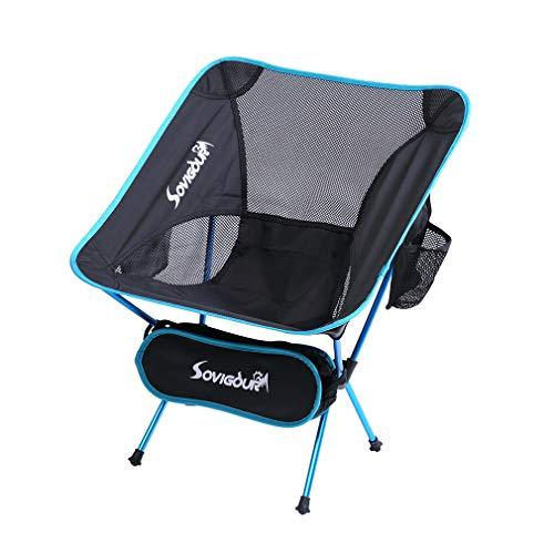 SOVIGOUR Folding Camping Chair, Outdoor Portable Camping Chair, Lightweight Backpacking Chair, Heavy...