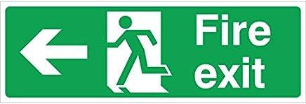 Fire Exit Sign Left - Rigid Plastic (45 x 15cm)