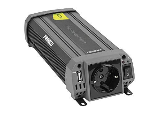Pro-User PSI400 19126 400W Reine Sinuswelle 12V auf 230V Spannungswandler mit USB Ausgang