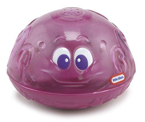 Little Tikes 173882GR Sparkle Bay Funkelfontäne Oktopus leuchtendes Wasserspielzeug mit Schwimm-und Wasserspritzfunktion, Badewannenspielzeug für Kinder ab 18 Monaten, lila