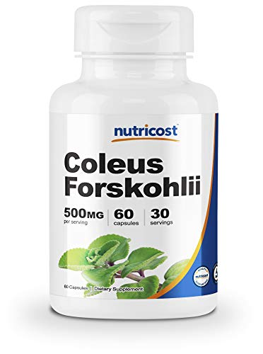 Nutricost Coleus Forskohlii 500mg, 60 Capsules - Maximum Strength Formula