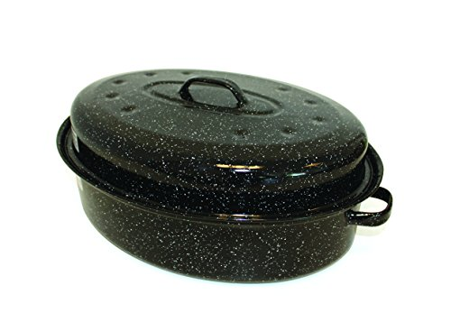 Beka 14730384 Kitchen Roc Roasty Cook Couvercle Émail Noir - 38 cm