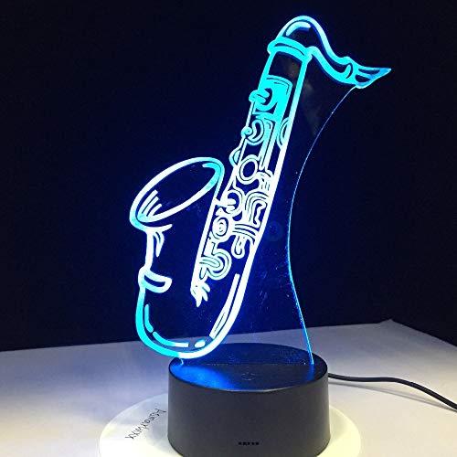 Saxophon Tischlampe Nachtlicht Saxophon Instrument antike industrielle Tischlampe Restaurant Coffee Shop Dekoration Lampe