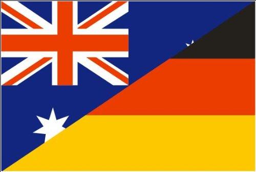 Deutschland / Australien Fre&schaftsfahne Fahne / Flagge Größe 1,50x0,90m Fre&schaft