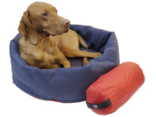 Noblecamper 2-in-1 Dog Bed and Sleeping Bag - (Red/Blue, Small...