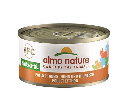 Almo Nature HFC Natural Katzenfutter nass- Huhn und Thunfisch 24er Pack (24 x 70g)