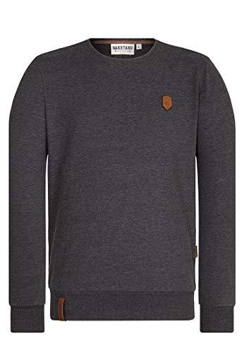 Naketano Male Sweatshirt Al K.Ohol Anthracite Melange, S