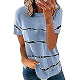Camiseta Holgada De Manga Corta con Estampado Tie-Dye De Primavera Y Verano para Mujer