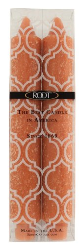 Root Boutique Unscented 9-Inch Timberline Collenette Dinner Candles, Rust, Box of 2