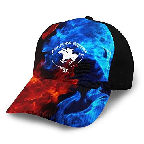Adjustable Womens Mens Neil Young Crazy Horse Baseball Hat Cap Snapback Dad Hats for Women Men