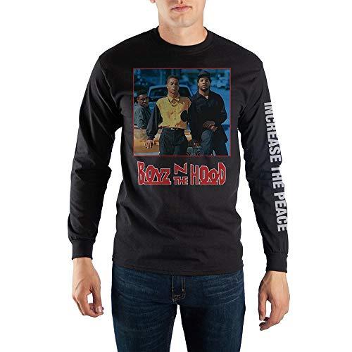 Bioworld Boyz n The Hood Characters Long Sleeve T-Shirt-Small Black