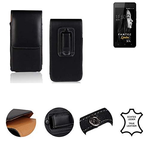 K-S-Trade® Holster Gürtel Tasche Für FANTEC Limbo Handy Hülle Leder Schwarz, 1x