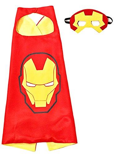 Inception Pro Infinite 3 - 6 Anni - Set Costume - Travestimento - Carnevale - Halloween - Iron Man - Uomo di Acciaio - Super Eroi - Colore Rosso - Maschera - Mantello - Bambino
