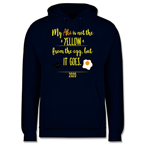Shirtracer Abi & Abschluss - ABI 2020 Not The Yellow from The Egg - 4XL - Navy Blau - abi Pullover 2020 - JH001 - Herren Hoodie und Kapuzenpullover für Männer