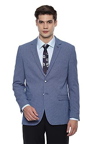 Van Heusen Men's Notch Lapel Slim fit Blazer (VHBZFSLF220305_Blue_36)