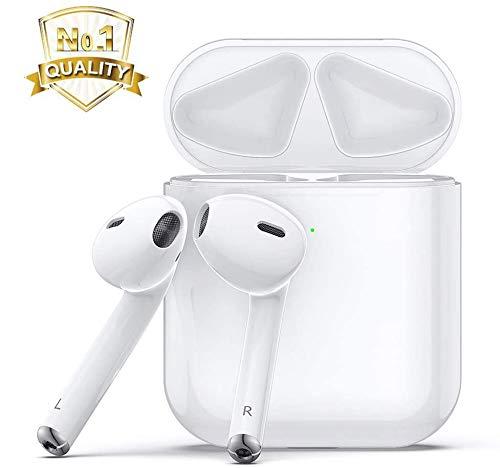 Auriculares inalámbricos Bluetooth 5.0,Deportivos Auriculares,micrófono Incorporado y Caja de Carga, reducción de Ruido estéreo 3D HD, adecuados para iPhone airpods Pro/Apple airpods/Android
