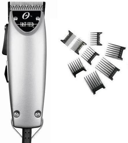 new arrival Oster Fast Feed Limited Edition Silver Hair Adjustable Pro discount Clipper + outlet online sale 8pc Comb Guides outlet sale