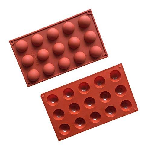 15 rejillas de molde de chocolate DIY Fondant Pudding Cake Candy molde de silicona antiadherente Utensilios para hornear cocina Horno herramienta