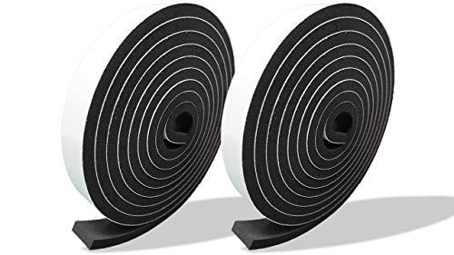プランプ オリジナル 隙間テープ スキマッチ 黒 ブラック 厚 5 mm × 幅 15 mm × 長さ 2m 2本入(合計4m) 日本製 ゴムスポンジ 防水 防音 すきま 窓 玄関 引き戸 隙間