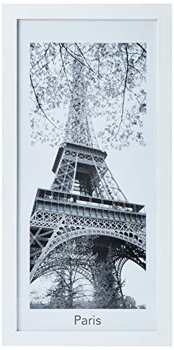 Print com Vidro P&B Cidades 27X54 Torre Eifel, Kapos, Branco