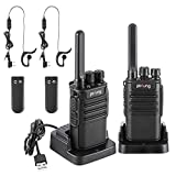 Walkie Talkie Recargable PMR Radio 16 Canales Batería 1500mAh Walkies Talkies UHF Radio Portátil con Auriculares