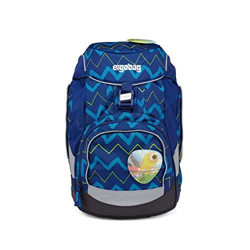 ergobag pack Set - ergonomischer Schulrucksack, Set 6-teilig - FallrückziehBär - Blau