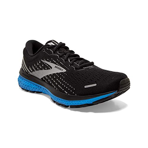 Brooks Mens Ghost 13 Running Shoe - Black/Grey/Blue - D - 12