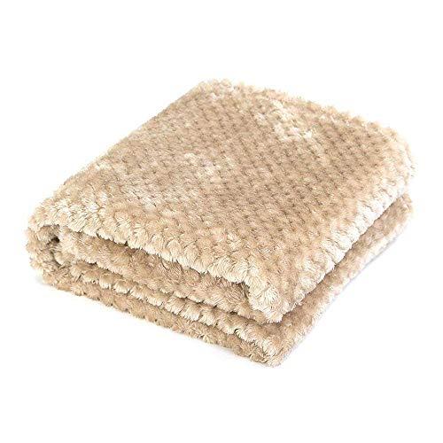 AcserGery Flauschige Hundedecke 100x120cm Super Softe Warme und Weiche Decke für Haustier Hundedecke Katzendecke (Khaki)