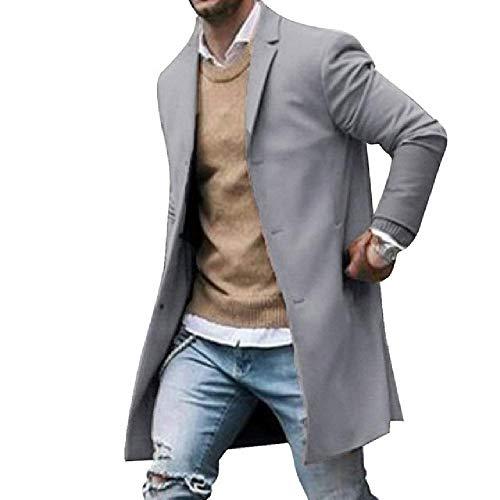 Keine Marke Männer Wintermäntel Neue Trenchcoat Männliche Blends Jacken Herrenmode Trenchcoats Homme Herren Mit Kapuze Streetwear