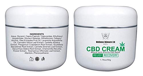 Wellness Hemp Cream for Arthritis, Joint, Back, Muscle and Knee Pain Relief