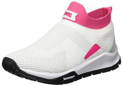 Primigi Scarpa Bambina Suola Michelin, Sneaker a Collo Alto, Bianco (Bianco-Fuxia 5440900), 30 EU