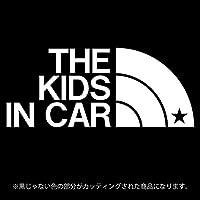 THE KIDS IN CAR 星柄(キッズインカ―)ステッカー パロディ シール 子供を乗せています(12色から選べます) (白)