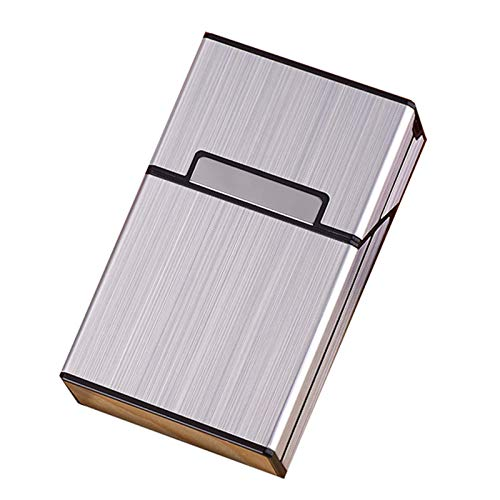 Estuche Portátil Cigarrillos Encendedores, Porta Cigarrillos Aluminio, Estuche Cigarrillos Bolsillo Metal Y Aluminio, Porta Cigarrillos, Estuche Cigarrillos, Encendedores Electrónicos Recargables Si