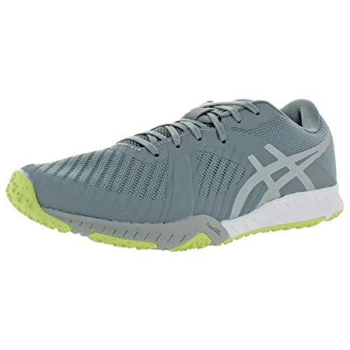 ASICS Women's Weldon X Training Shoes, 8.5M, Stone Grey/MID Grey/Limelight