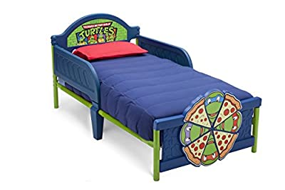 Delta Children 3D-Footboard Toddler Bed, Nickelodeon Ninja Turtles