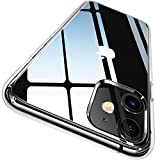 CASEKOO iPhone 11 Case, Clear Protective [Anti-Yellowing] Ultra Hybrid Cover with Hard Back and Flexible Slim Lightweight TPU Bumper Cases for 6.1 inch 2019 iPhone 11 - Crystal Clear