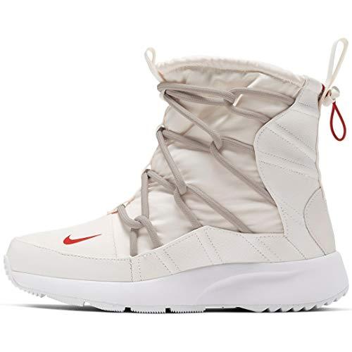 Nike Women's Tanjun High Rise High Top Sneaker Boots (10, Phantom/Gym RED-Desert SA)