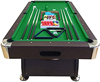 SIMBASHOPPING USA 8' Feet Billiard Pool Table with Automatic Ball Return System Snooker Full Set Accessories Game Vintage ...