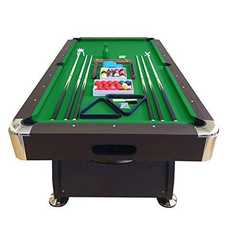 GRAFICA MA.RO SRL Mesa de Billar Juegos de Billar Pool 8 ft Modelo Vintage Verde Carambola Medición de 220 x 110 cm Nuevo Embalado