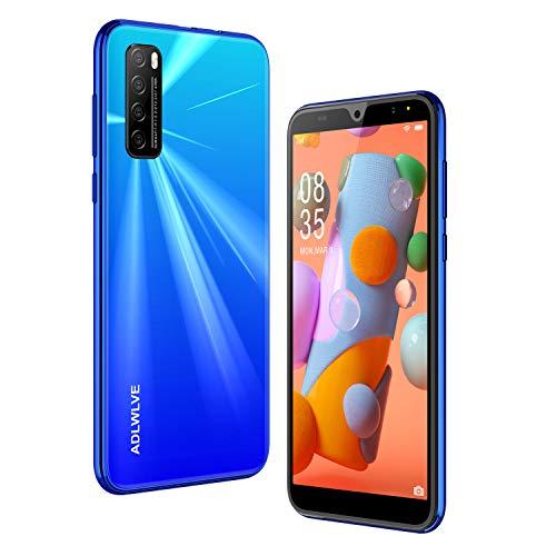 Teléfono Móvil Libres, 6,0 Pulgadas Android 9.0 Smartphone Libre 4G, 32GB ROM+3GB RAM,Moviles Libres Baratos Dual SIM, 8MP+ 5MP, Face ID GPS/WiFi/Hotspot Móviles y Smartphone Baratos Libres (Azul)