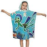 "Luca Movie Sea Monster Land Monster Bath Towel Kids Bath and Beach Soft Hooded Baby Towel Wrap Swimming Bathrobe Large Washcloths 23.7"" X 23.7"""