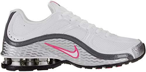 Nike Women's Reax Run 5 White/White/Mtllc Slver/Drk Gry Running Shoe 9 Women US