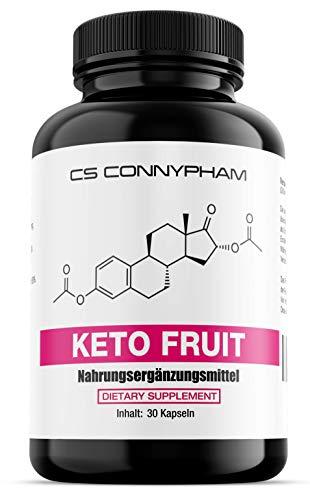 Keto Fruit, Ideal für Frauen, Vegetarisch, Glucomannan, Raspberry, Bitter Orange, African Mango, Niacin, Grüner Kaffee