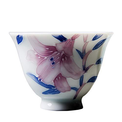 LJJOO Taza de té japonesa hecha a mano de cerámica de cerámica Taza de té de inspiración de ZEN, tazas de té decorativas y multiusos para bebidas calientes y frías Juegos de té