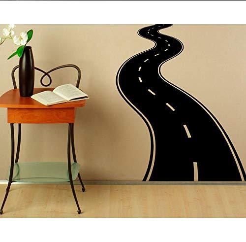 Strada autostrada Decalcomania da Muro Adesivo in vinile Carreggiata Huis Interieur Ontwerp Arte Murales Camera da letto Decorazione Classica Camera 57x67cm